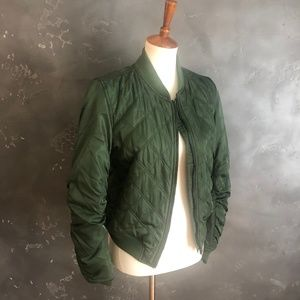 NWT Quilted Bomber Jacket